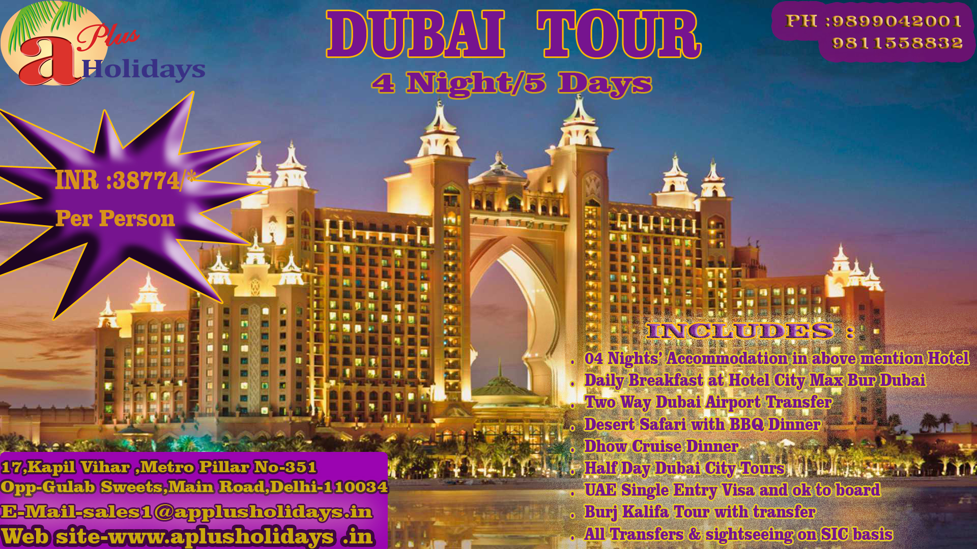DUBAI 4 Night / 5 days
